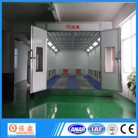 Heated Air Make-Up Unit Semi Downdraft Paint Booth For Car