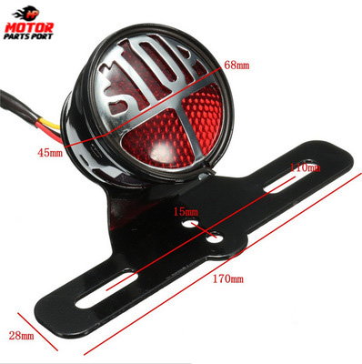 cafe racer motorcycle rear tail lights light