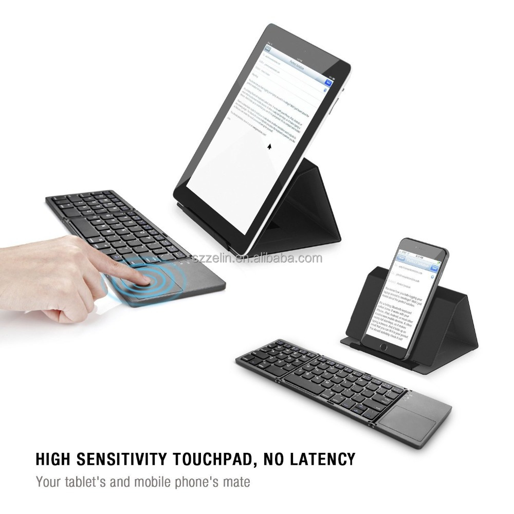Foldable Bluetooth keyboard With Touchpad for Android, iOS and Windows