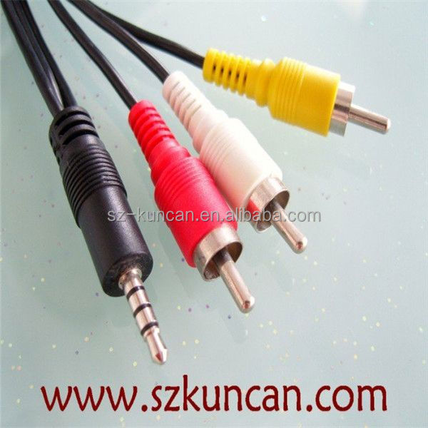 3.5mm jack to 3 rca cable headphone cable