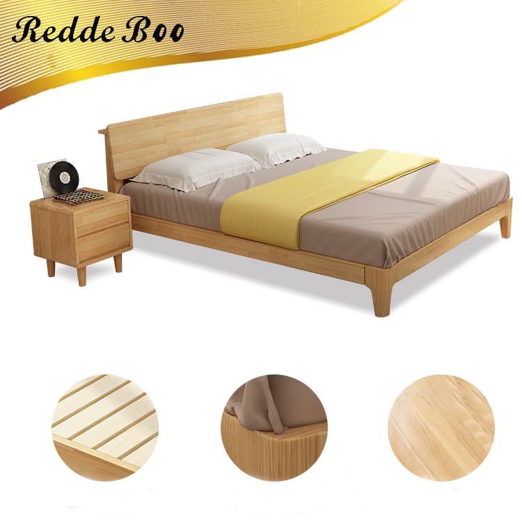 Chinese latest wooden furniture double bed head