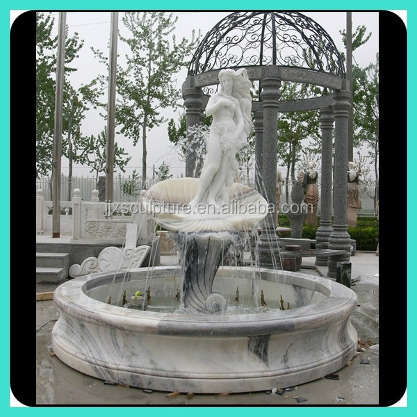 White Marble Nude Women Water Fountain