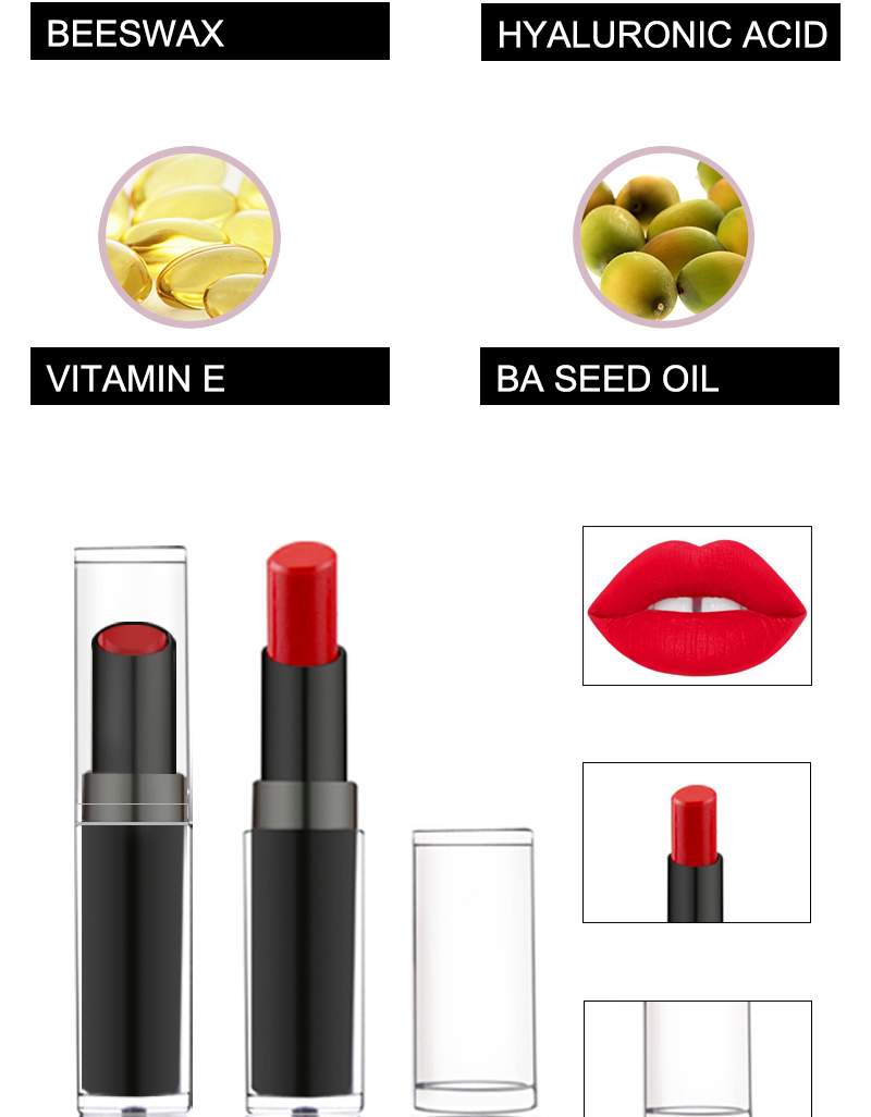 Private Label Long Lasting Cosmetic 10 Colors Solid Matte Lipstick