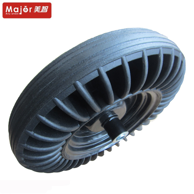 Brand new small wheels with plastic rim 3.00-4 solid rubber wheel for baby stroller/baby walker