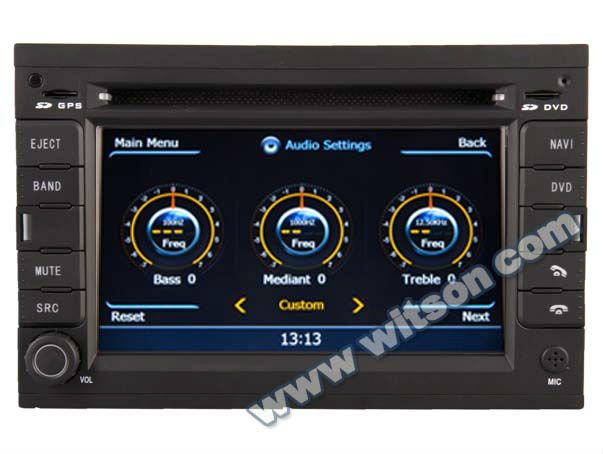WITSON tv and radio for auto with Front DVR Camera