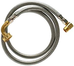 Fluidmaster B6W48K Dishwasher Connector With 1/2-Inch and 3/4-Inch Elbow Fittings, Braided Stainless Steel - 3/8 Female Compression Thread x 3/8 Female Compression Thread, 4 Ft. (48-Inch) Length