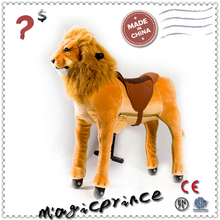 Hot selling toy!!!hot toys by chlidren, happy and lovely horse lion, cycle lion for safe