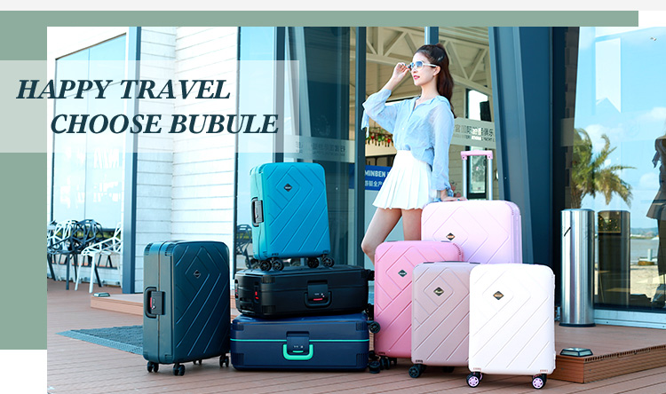 BUBULE Fashion Style 20 24 28 Inch 3 Piece Design Your Own Suitcase Decent Luggage
