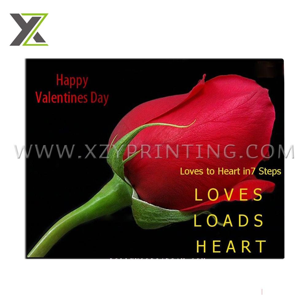 美しい特別なバレンタイン印刷ファッション証券紙ローズカード