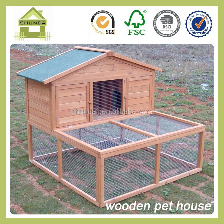 SDR006 Rabbit Hutch - 2 Tier Extended Guinea Pig Pet House With Run