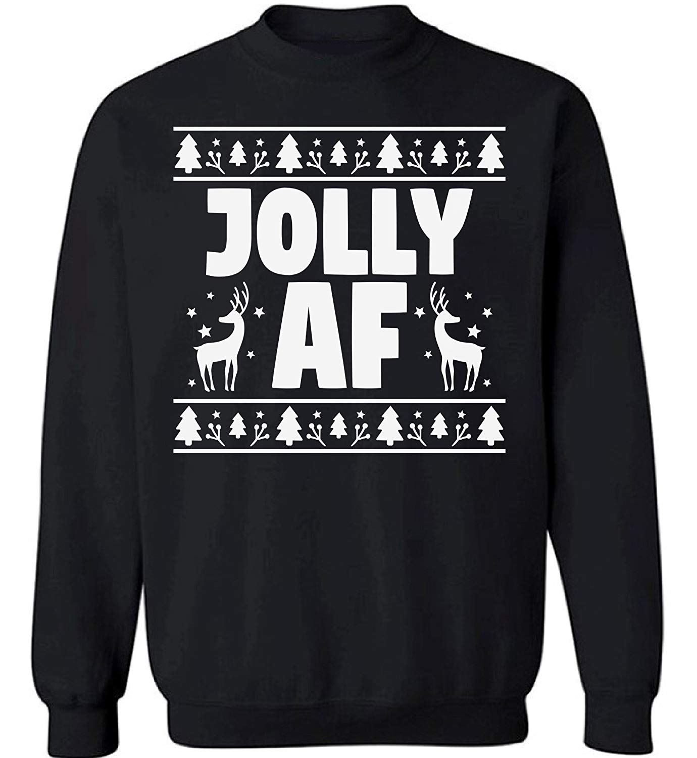 7a885ef3 Get Quotations · Raxo Jolly AF Ugly Christmas sweater Christmas sweatshirt  Jolly AF Christmas sweater Funny Christmas Sweater Party