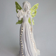 Home decoration ceramic angel with led