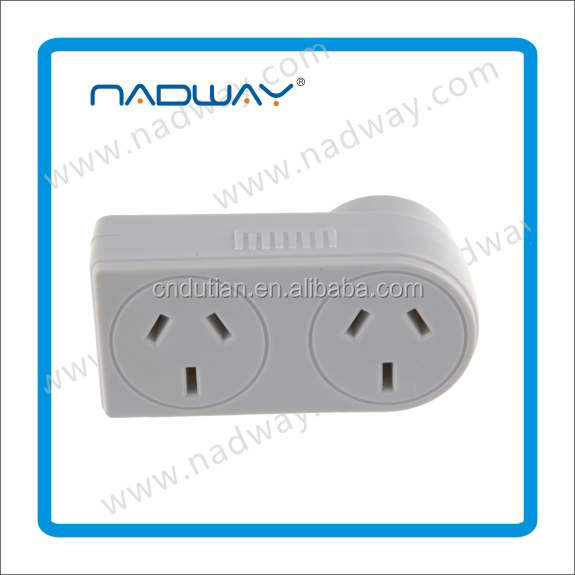 Gold supplier Nadway sell Double adaptors surge vert SAA