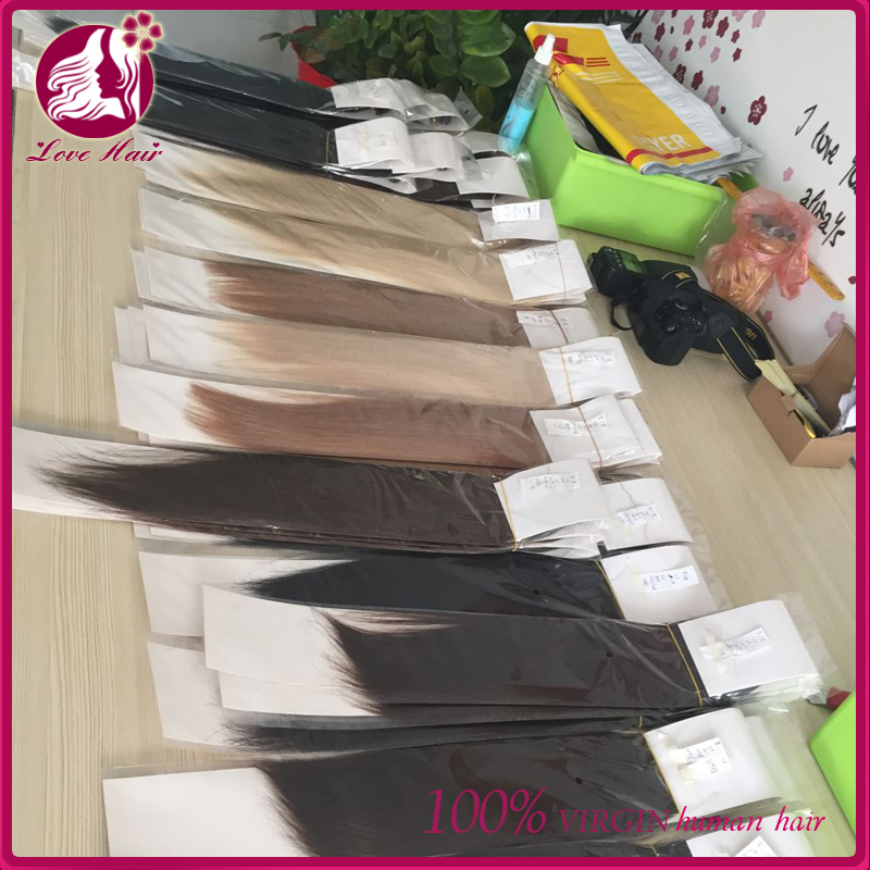 100% CLIP IN HUMAN HAIR EXTENSIONS 220G 20 - 22 INCH LENGTH