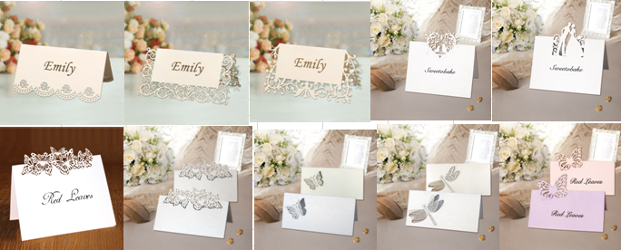 Pc1301-04 Paper Craft Wedding Table Decorations Table Place Name ...
