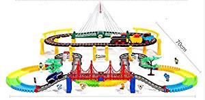 212 pcs Oversized thomas electric train tracks set multi-layer electric toy Toy Train Set Tracks