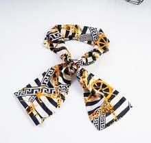 Yishine, 15x145 см, 2 цвета, Женский плоский угловой шарф, цепь, компас, лодка, якорь, принт, длинные шарфы, шаль, платок, сумка, Декор(Китай)