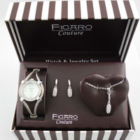 Watch set earring necklace watch set gift box bracelet watch