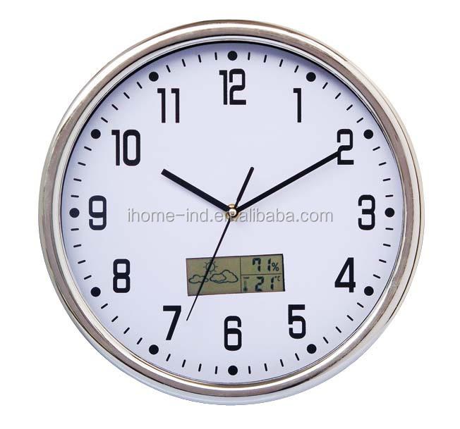 china plastics thermometer wall lcd clock digital wall