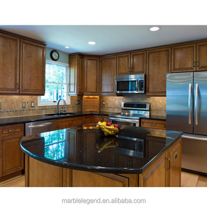 Black color natural stone granite kitchen countertop price