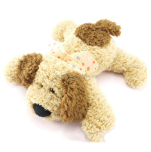 Customized Cute Plush Dog Toy Adopt Soft PV Fabric Factory Price