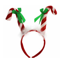 Samt lustige weihnachten party candy cane stirnband dekoration