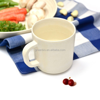 new natural bamboo fiber eco friendly BIO tableware cup set, bamboo cups with ear for water