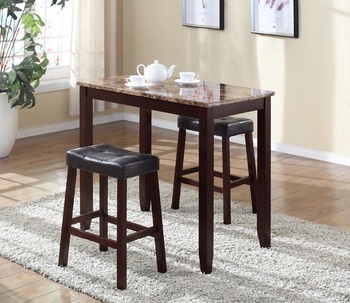Modren Two Chairs Malaysia Dining Table Set