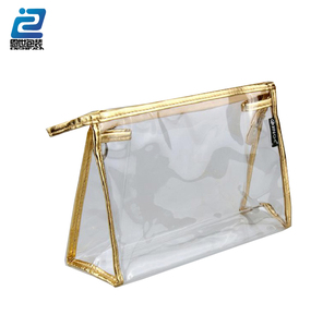 pvc plain plastic makeup bag imported from china