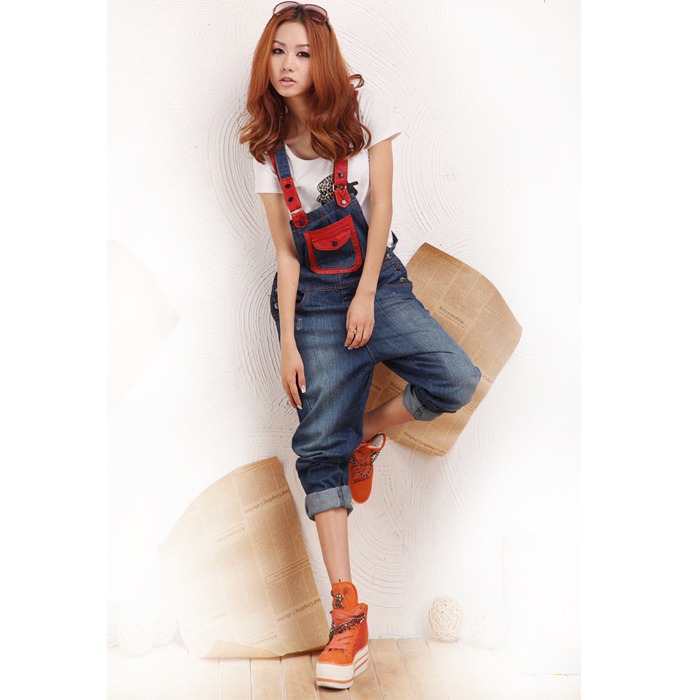 7d2dd909ed6 2015 New fashion summer style denim jumpsuit women long jumpsuits and rompers  loose denim jean overalls