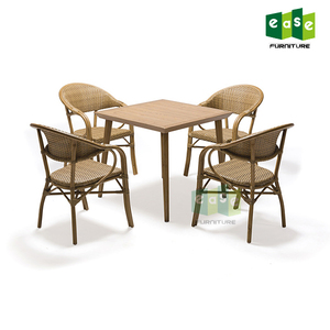 Modern dining chairs wicker bamboo outdoor furniture set for sale