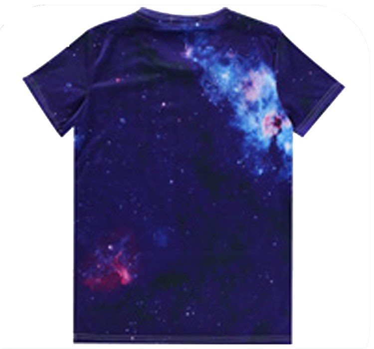 Popular and the newest fashionable print cut and sew t-shirt custom