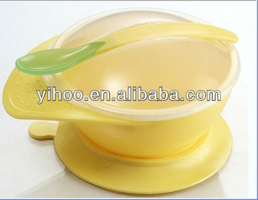 Non-slip plastic baby feeding bowl eco friendly tableware