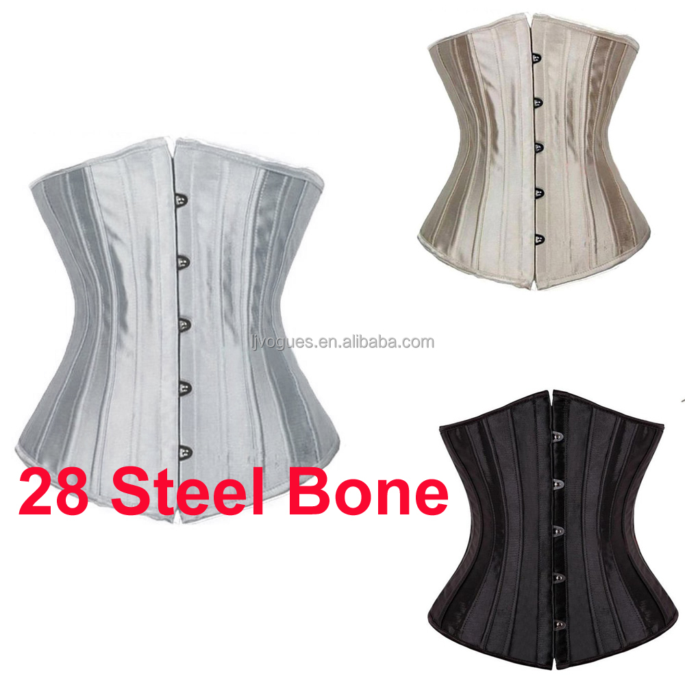 Strong 28Double Steel Boned Waist Training Twill Cotton Underbust Corset 450-TC