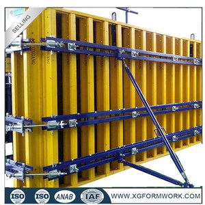 Forms for concrete wall slab / metal Construction formwork / metal
