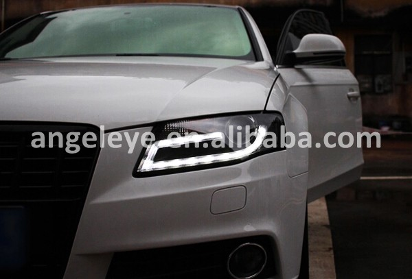 2009 2012 Year Headlights For Audi A4 B8 Led Strip Head Lamp With