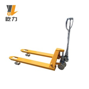CE Hydraulic trolley / Manual Forklift price cby DF 3ton raymond Hand  lifter hand scissor lift Pallet Truck wheels for sale