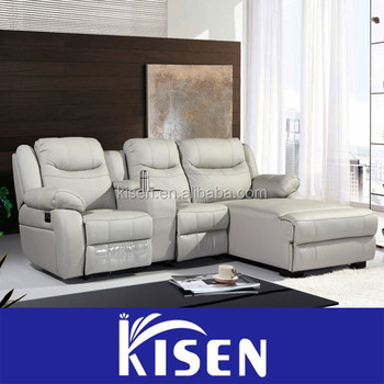 Home theatre seating sectional modern leather recliner sofas : theater seating sectional - Sectionals, Sofas & Couches