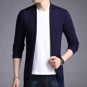 wholesale autumn acrylic chenille cardigan sweaters,  men's knitwear korean fashion cardigan
