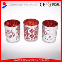 Wholesale high quality glass silver plated votive candle holders