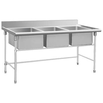 Triple Bowl Stainless Steel Commercial Kitchen Sink BN S28