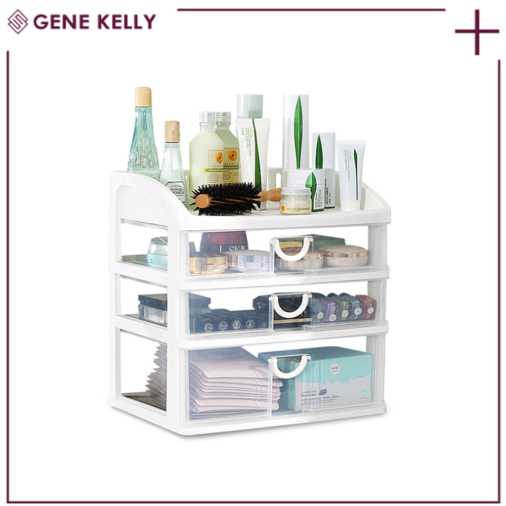 GEKE Delivery on Time Large Plastic Office Living Lipstick,Nail Polish Makeup Perfume Storage, Drawer Box without Lid