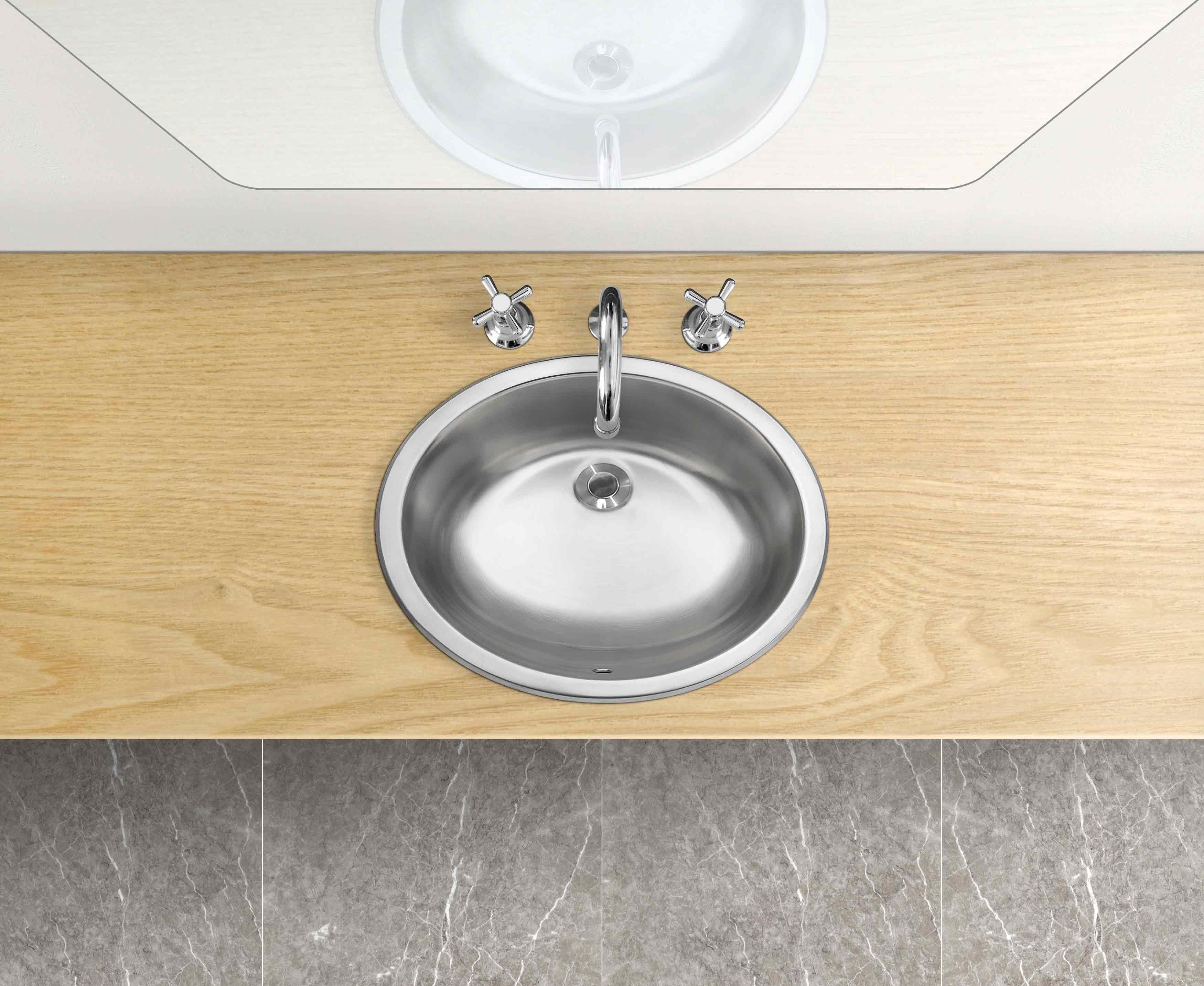 المطبخ حوض غسيل اليد الفولاذ المقاوم للصدأ صغيرة مستديرة احواض غسل اليد المصارف