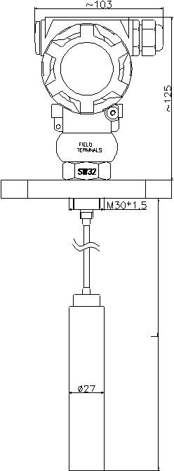 Oil Septic Tank Level Pressure Transducerindicator