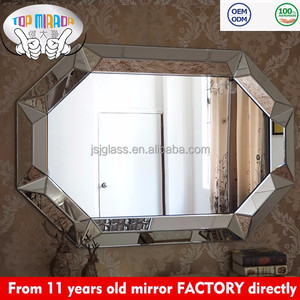 TOP MIRROR JSJ-0344A China Wholesale 3d large cheap beveled decorative mirrors