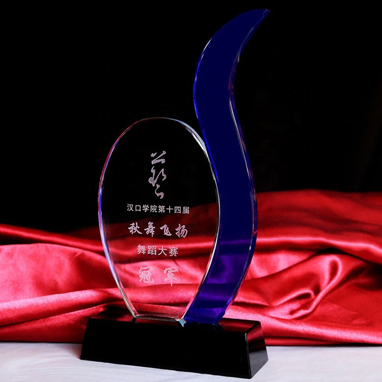 China Suppliers Crystal Trophy Award Glass