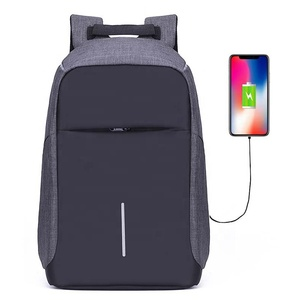 Waterproof Reflective Smart bagpack School Anti-theft Back pack USB charging 15.6 inch Laptop backpack bag Anti theft Backpack