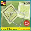 Decorative square crystal sticker Acrylic rhinestone for Invitation Card design