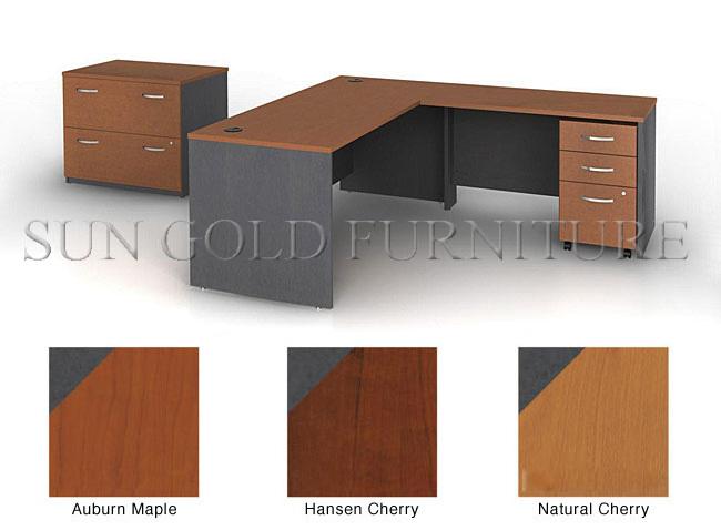 diseo simple de oficina de madera muebles esquina escritorio de oficina szod
