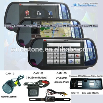 Car Back View Mirror Camera Rearview Mirror Bluetooth Handsfree Car Kit 7 inch Flip Open Very Novel Mirror